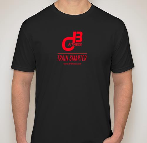 d3 fitness Men's Black T-Shirt