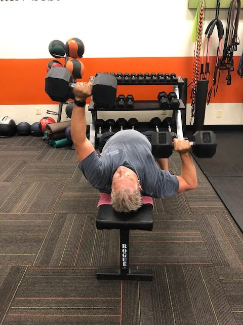 d3 fitness personal training testimonial - Mark on benchpress