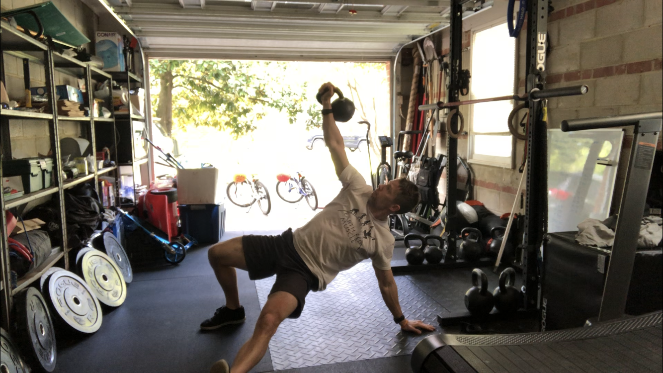 Kettlebell Turkish Getup Core Workout
